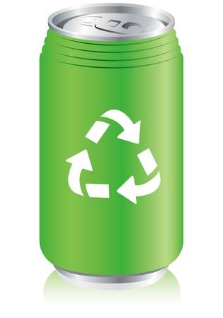 20230194 aluminum can recycle vector