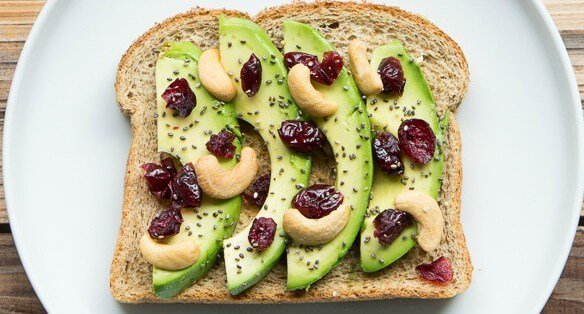 California Avocado Toast with Cashews and Chia e1417989014488