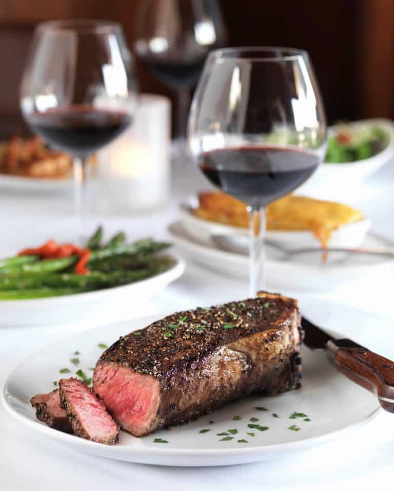 Steak and Red wine 768x956