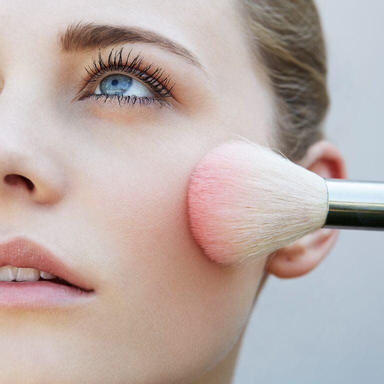close up woman brush blush 768x768