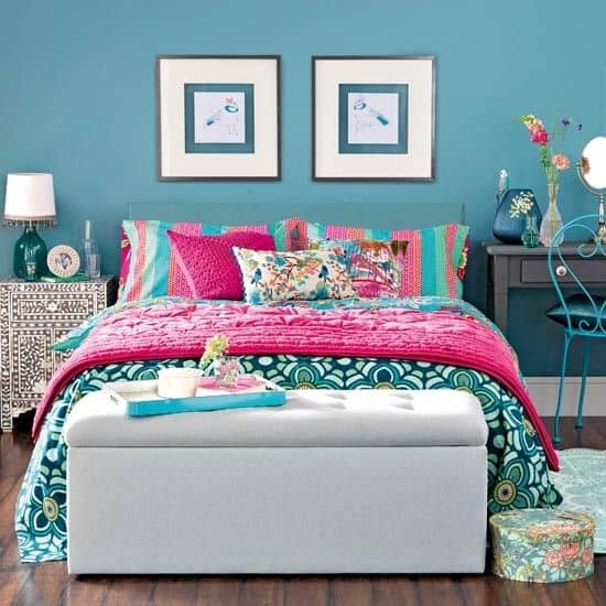 da5910e47c85f04ed039c441ac79bdd6 teal blue bedrooms colourful bedroom