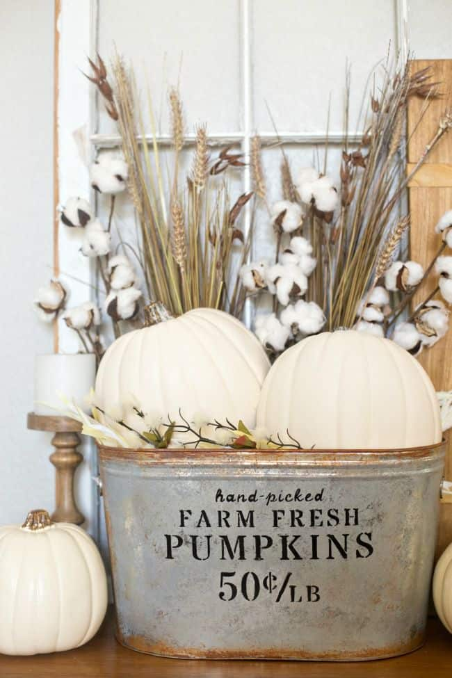 diy farmhouse pumpkin bucket 3