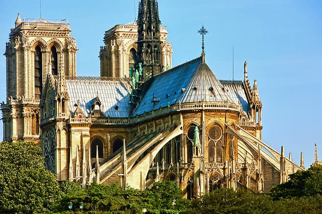 france paris notre dame flying buttresses