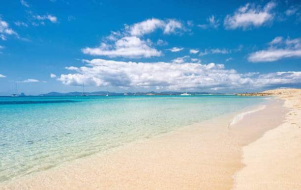 Formentera   View over Playa de ses Illetes