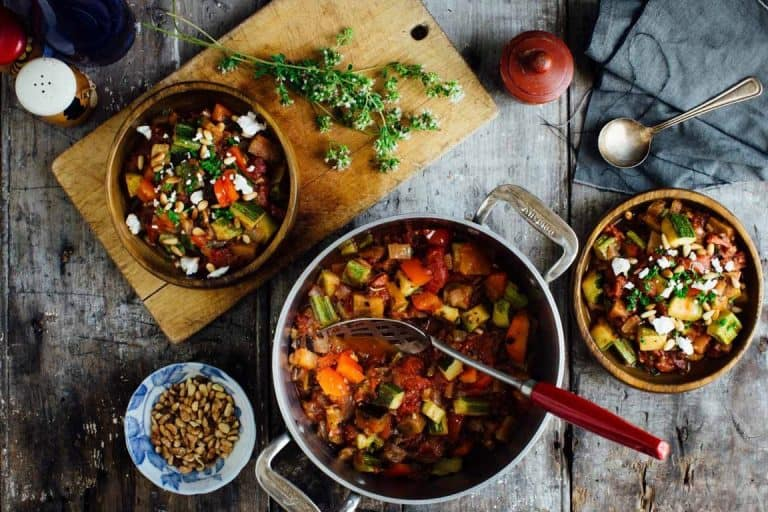 smoky ratatouille with goat cheese and pine nuts 006 768x512