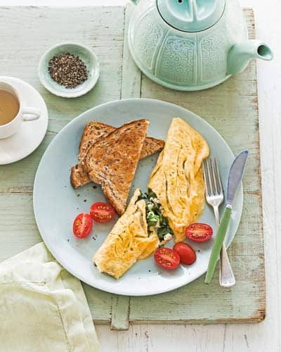 spinach fetta omelettes_0
