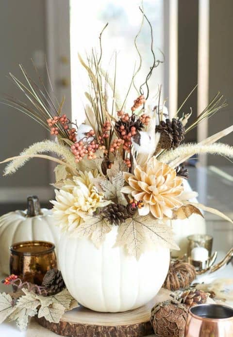 white pumpkin vase 1