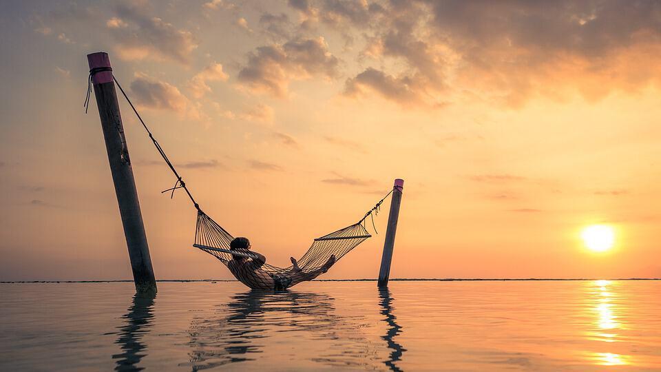 Bali Hammock Sunset Relaxation Asia Indonesia Sun