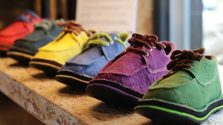 we proudly hand spin and hand loom every single metre fabric makes our amazing shoes   right down laces result walk naked