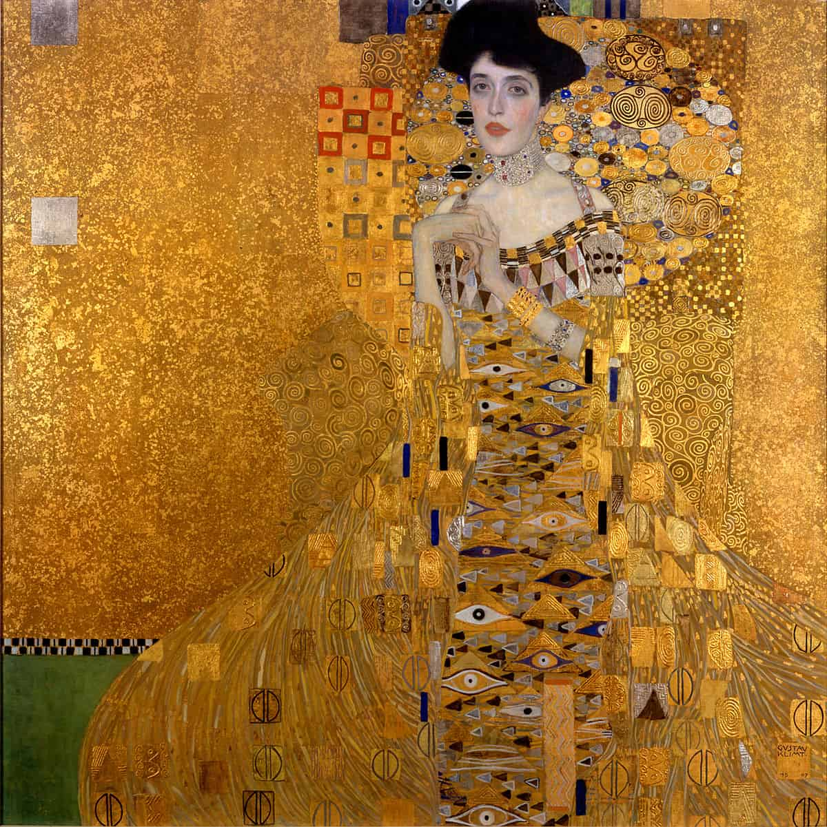 Gustav_Klimt_Portrait of Adele Bloch Bauer I, 1907