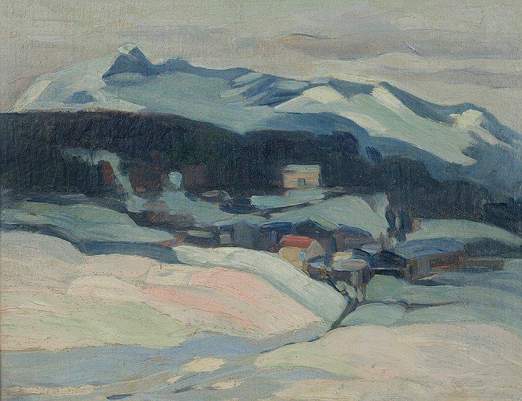 Nikola Tanev 1921 Zimen kurort v Alpite