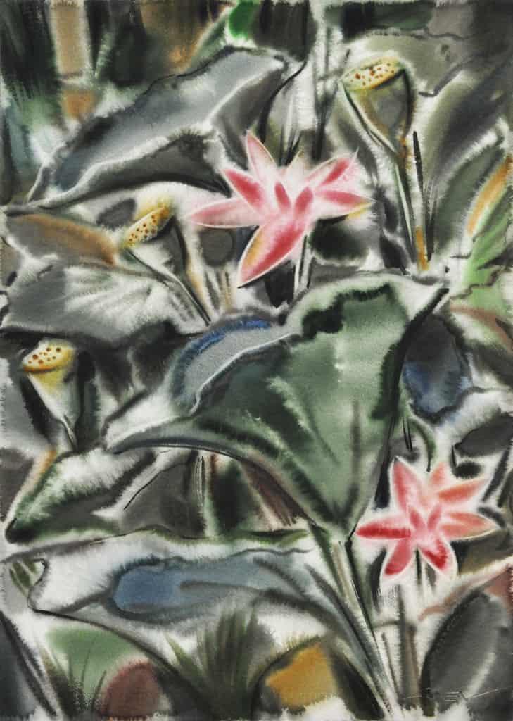 lotuses from the emperor's garden 3_76х56см