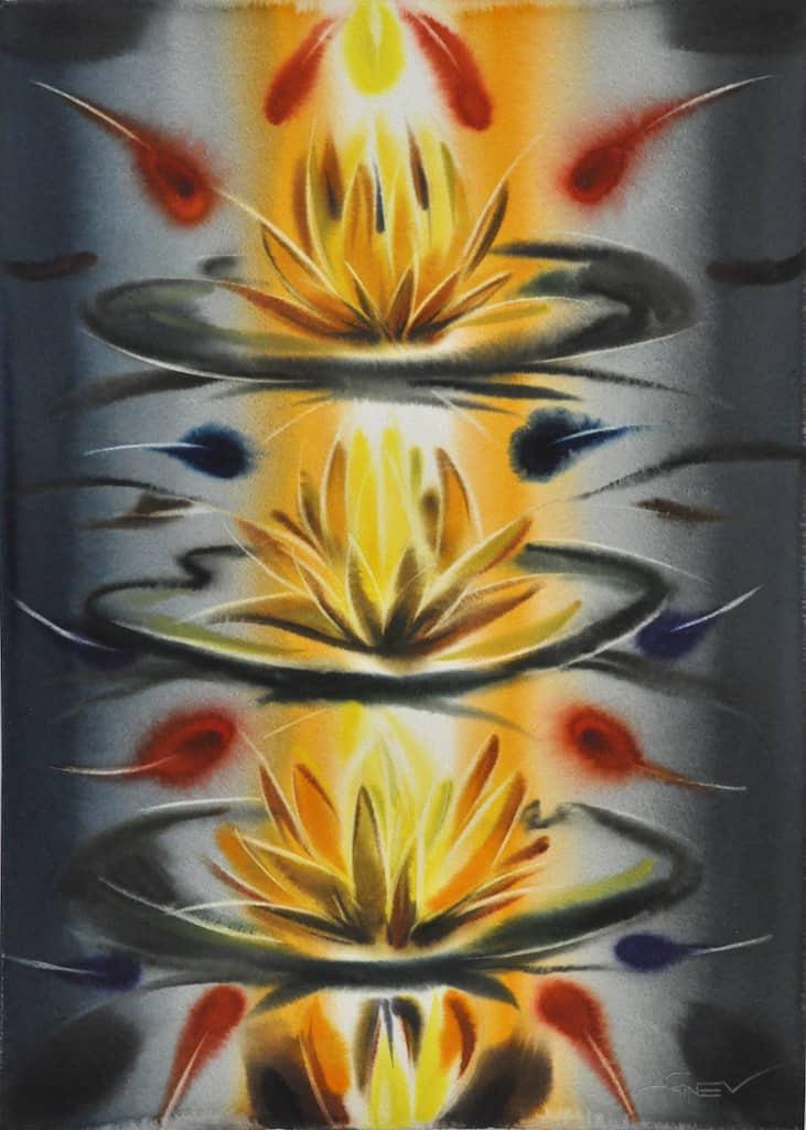 the lilies of the emperor's garden  3_76х56см